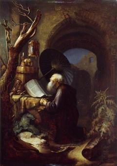 A Hermit at Prayer