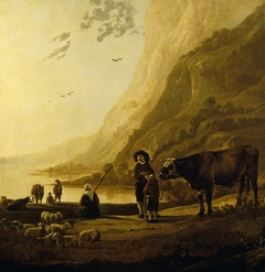 A Landscape with a Herdsman and Bull