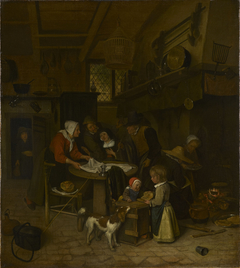 A Scene in a Peasant Kitchen with a Servant Laying the Cloth
