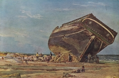 A ship on the beach of Skagen