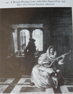 A Woman Playing a Lute with other Figures