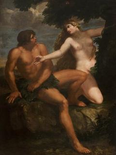 Adam and Eve (after Pietro da Cortona)