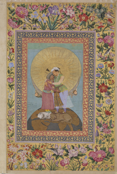 Allegorical representation of Emperor Jahangir and Shah