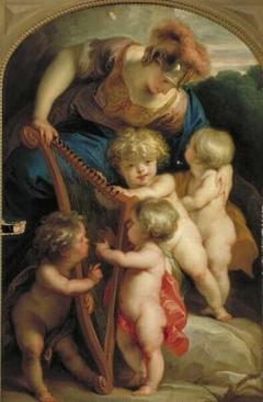 Allegory, Minerva with Three Putti