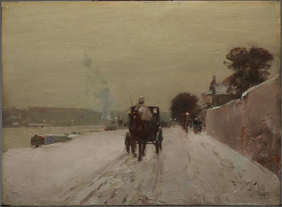 Along the Seine, Winter
