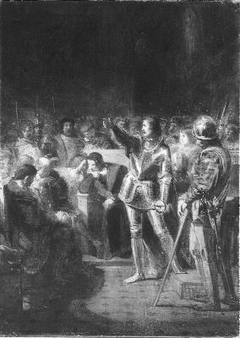 Anno 1514. Count Edzard Defend his Rights in the Groningen town council