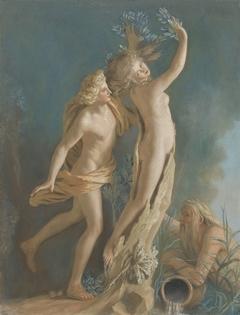 Apollo en Daphne, naar het beeld van Gianlorenzo Bernini in de Borghese verzameling te Rome