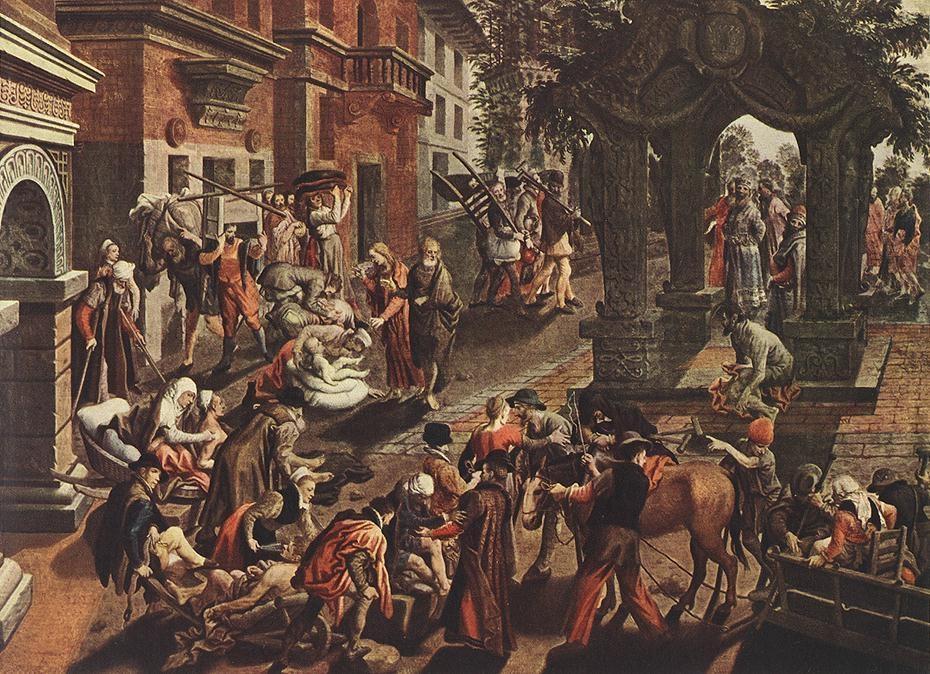 Apostles Peter and John Healing the Sick