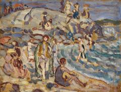 Beach Scene and Hill