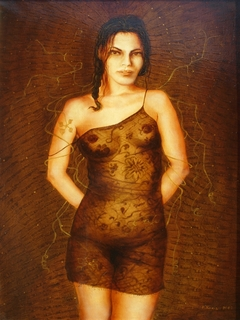 """""""Brunette"""" - from the lace cycle."""