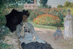 Camille in the Garden with Jean and a Maid