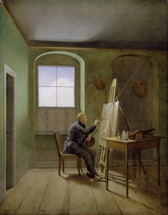 Caspar David Friedrich in his Studio (1811)