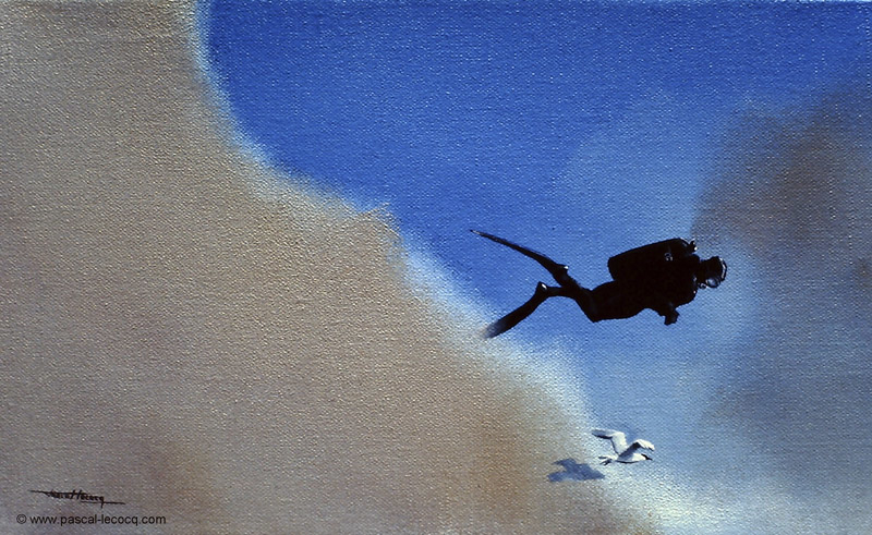 CIEL, UNE MOUETTE ! - O god, a seagull ! - by Pascal