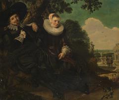 Copy of the Marriage portrait of Isaac Massa and Beatrix Van der Laen