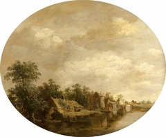 Cottages by a Canal