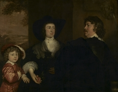 De portretschilder Jonson van Ceulen (1593 - 1661), Elizabeth Beke en hun zoon Cornelus