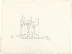 De tempel van Aesculapius in de Giardini Borghesi