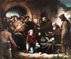 Don Álvaro de Luna condestable y favorito del rey D. Juan II de Castilla decapitado públicamente en la Plaza Mayor de Valladolid el 2 de junio de 1453 es enterrado de limosna en el cementerio de los ajusticiados extramuros de dicha ciudad