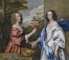 Double portrait of Anne, Countess of Manchester (?-1658) and her daughter Anne Cavendish, Lady Rich (1611-1638)