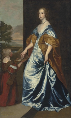 Duchess of Lennox and Richmond (1622–1685) with her lady's maid, the dwarf, Anne Shepherd