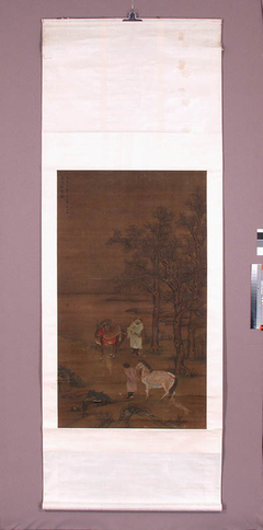 Dwóch Mongołów z końmi