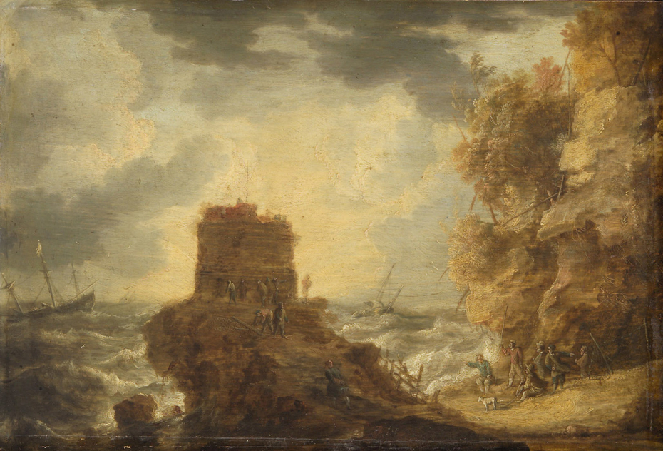 Felsküste mit Wachtturm