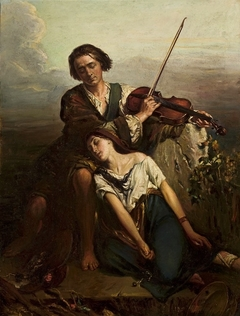 Fiddler and a gypsy (Solace).