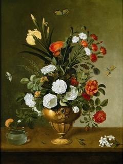 Flower Vase and Crystal Vessel