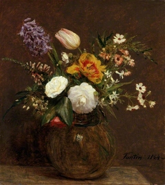 Flowers: Tulips, Camellias and Hyacinths