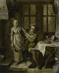 Gallant Scene in a Kitchen Interior