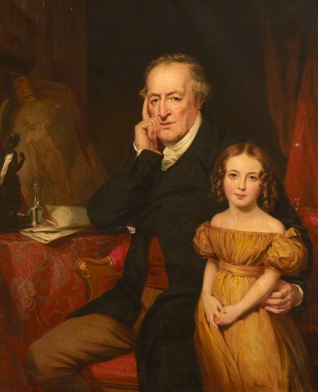 George O'Brien Wyndham, 3rd Earl of Egremont (1751-1837) and his Granddaughter Harriet King (?)