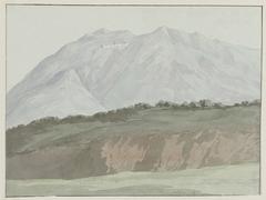 Gezicht op kartuizerklooster van Monte Vergine hoog gelegen boven Avellino