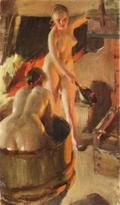 Girls from Dalarna in the sauna