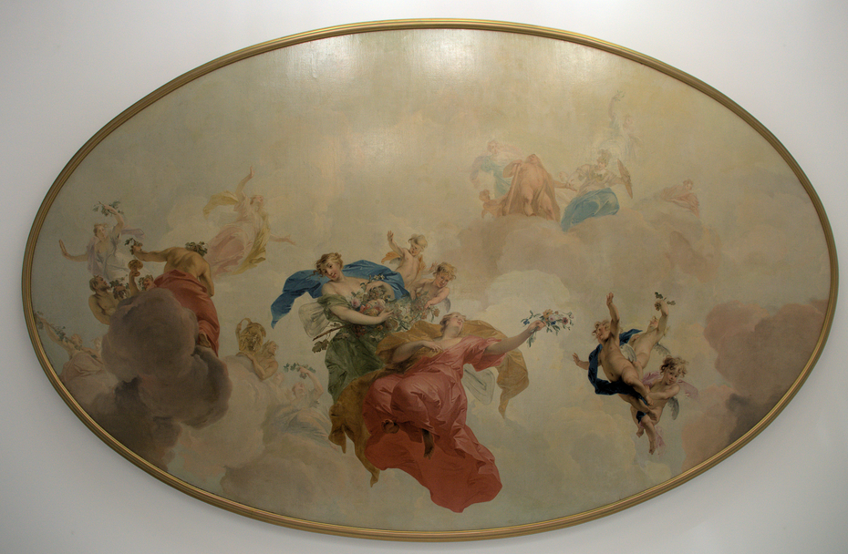 Gods in the sky, ceiling