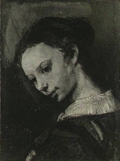 Head of a Woman, or Study for a figure in Rembrandt's lost 'Circumcision'
