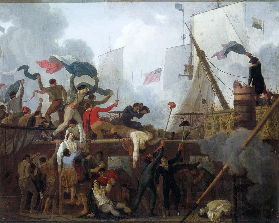 Héroïsme des marins du vaisseau Le Vengeur commandés par le capitaine Renaudin