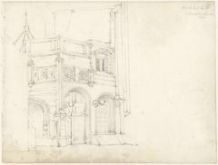 IJzeren kapel en het Zuider portaal aan de Oude Kerk te Amsterdam