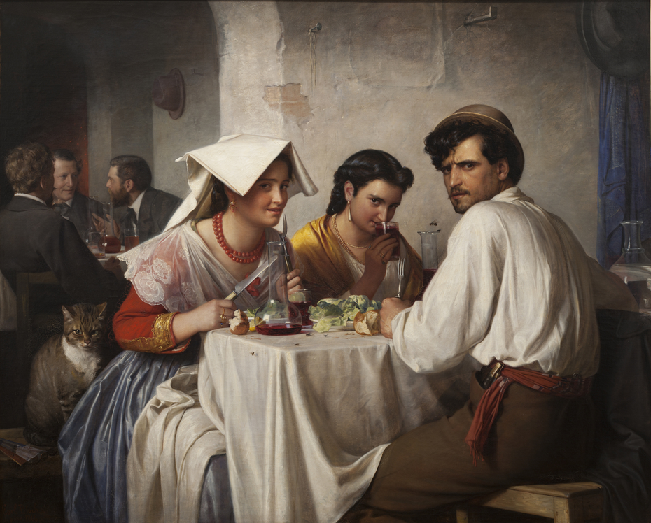In a Roman Osteria