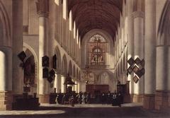Interior of the St. Bavochurch in Haarlem