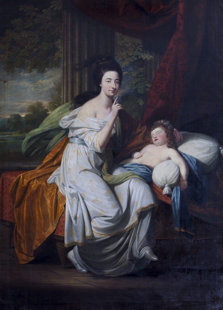 Jocosa Katerina Drury, Lady Cust (1748/9-1772) and her Niece Lady Caroline Hobart, later Lady Suffield (1767-1850)
