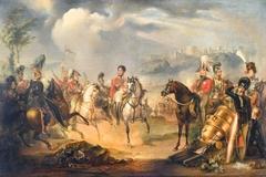 King George IV (1762-1830) and the Duke of Wellington (1769-1852) on horseback
