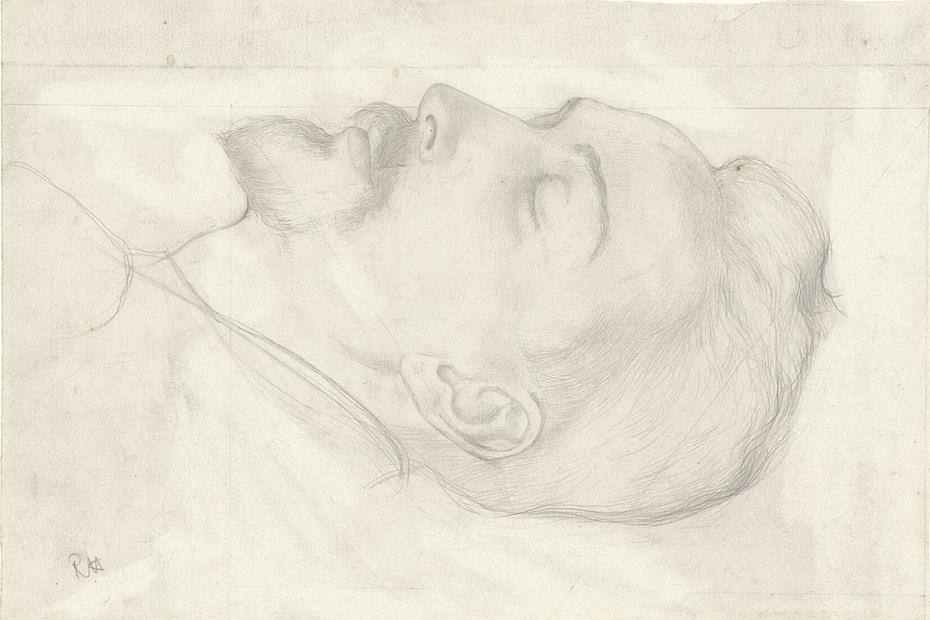 Kop van een slapende man