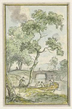 Landschap met een bootje