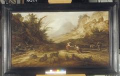 Landschap met Granida die Daiphilo te drinken geeft uit een schelp