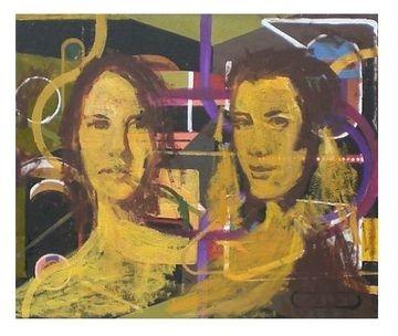 Les deux soeurs (esquisse jaune)