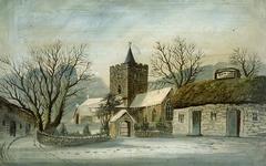 Llanbadarn Fawr Church and 'Black Lion' Inn