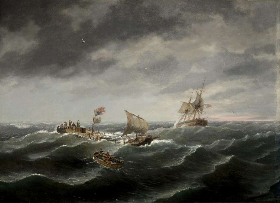Loss of the Schooner 'John S. Spence' of Norfolk, Virginia, 2d view-Rescue of the Survivors