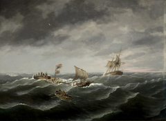 Loss of the Schooner 'John S. Spence' of Norfolk, Virginia, 2d view-Rescue of the Survivors