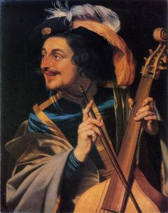 Man with viola da gamba