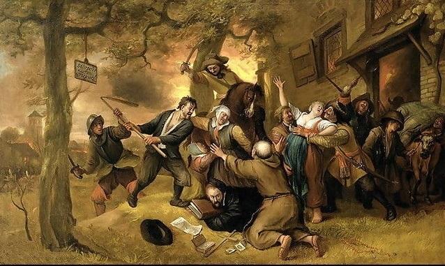 Marauders Attacking Peasants